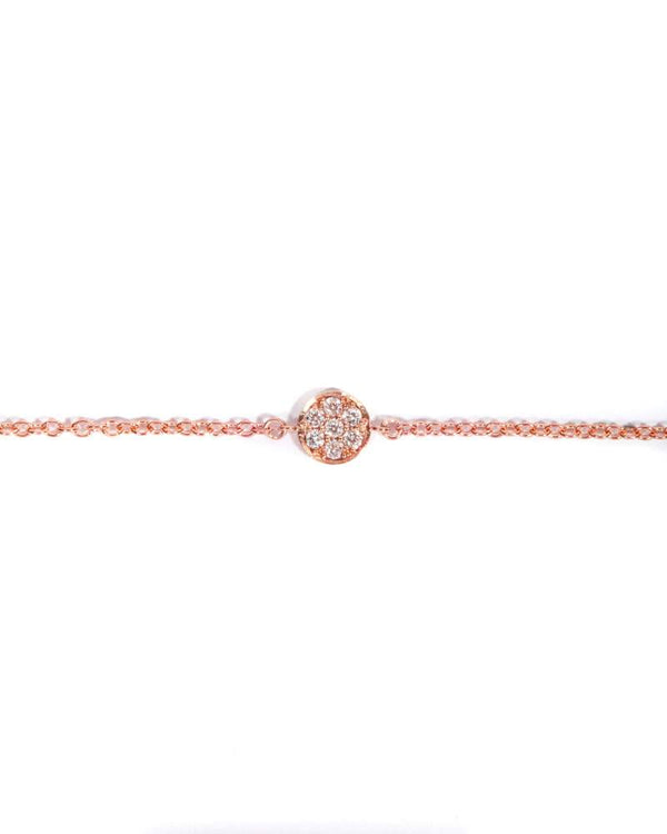 Petite Pave Diamond Bracelet - 9ct Rose Gold