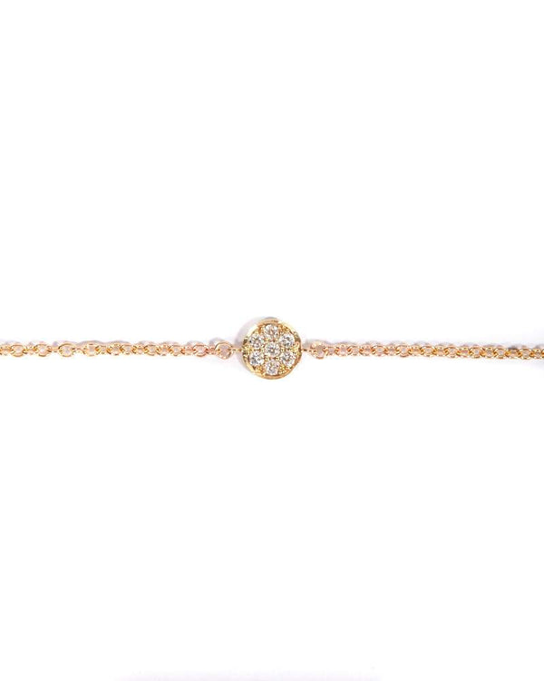 Petite Pave Diamond Bracelet - 9ct Gold