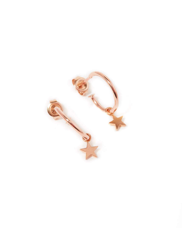 Star Drops - 9ct Rose Gold