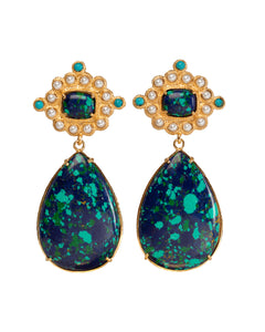 Carmina Earrings Green/Blue