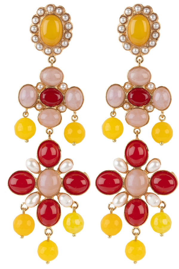 Julietta Earrings Pink