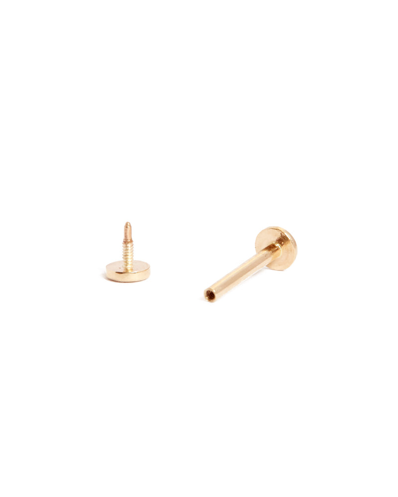 Tiny Moon Stud - 9ct Gold