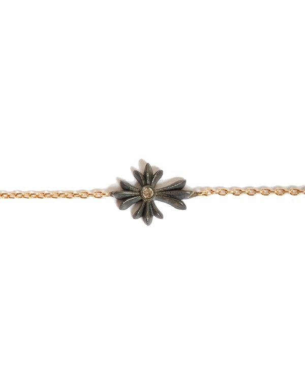 Cross Bracelet with Diamond - 18ct Rose Gold