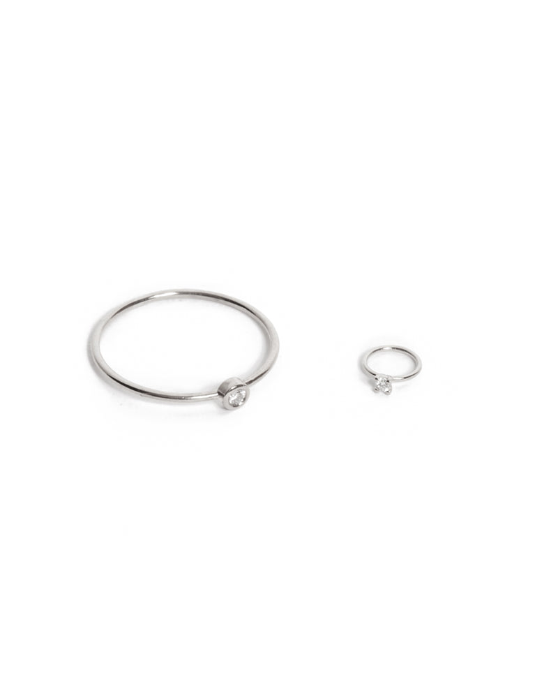 Tiniest Diamond Ring - 9ct White Gold
