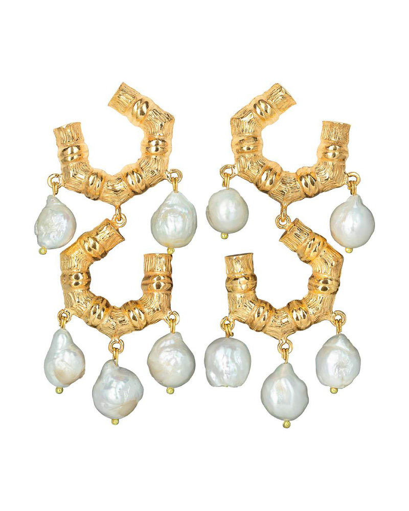 Marie Elena Earrings Gold
