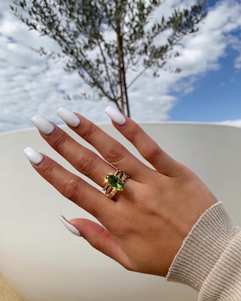 Corfu Solitaire Chrome Tourmaline