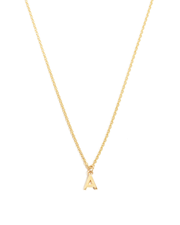 Letter Necklace - 9ct Gold