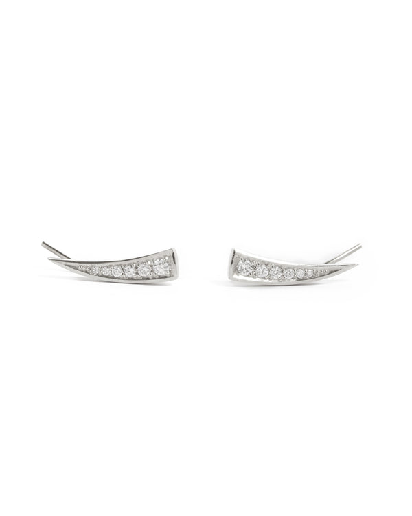 Tusk Diamond Stud - 9ct White Gold