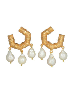 Mini Lareina Earrings Gold