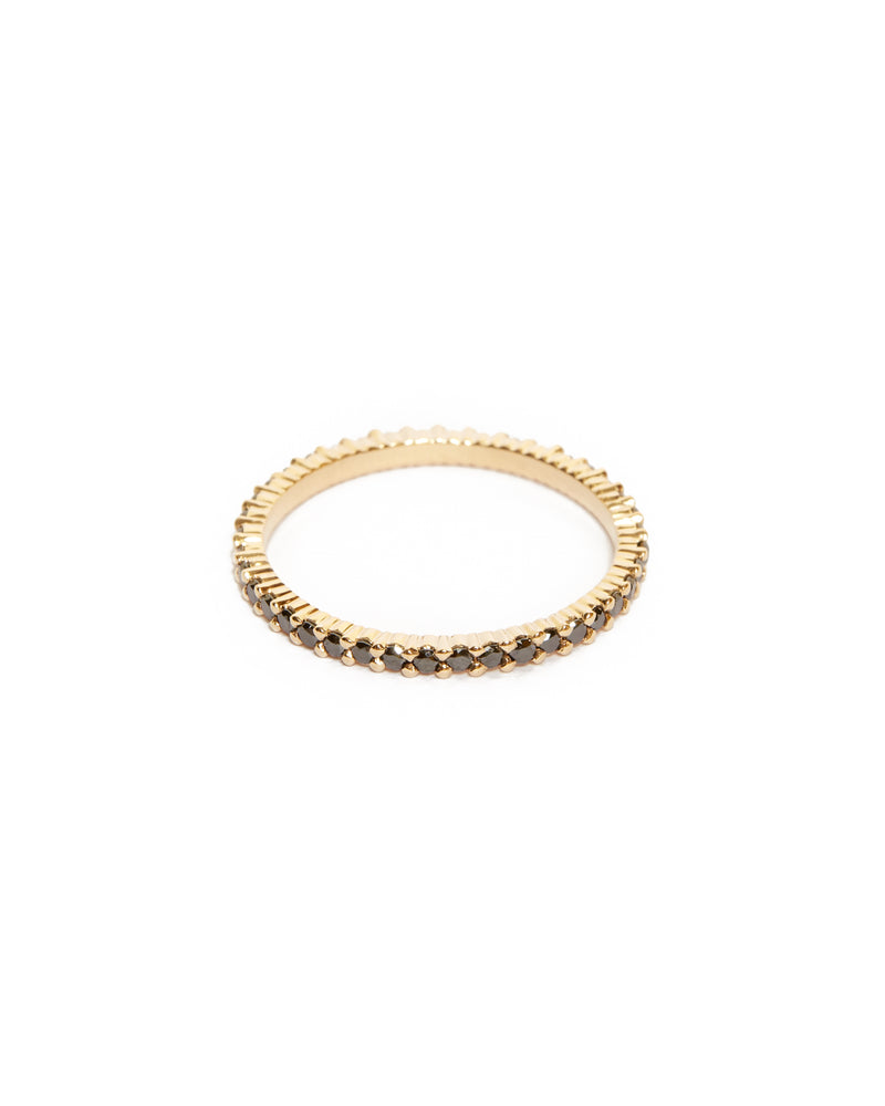 Sia Full Circle Black Diamond Ring - 14ct Gold