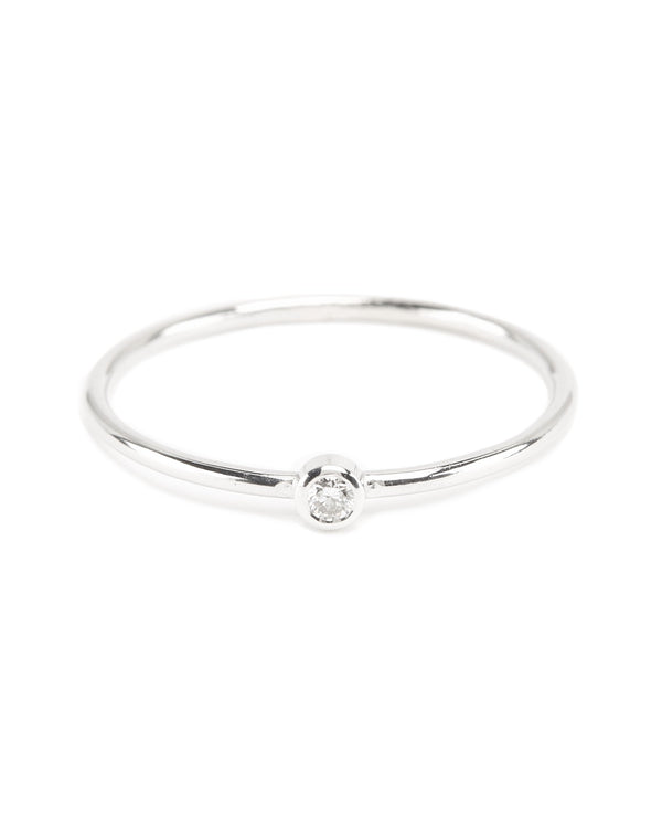 Neo Diamond Ring (Small) - 9ct White Gold