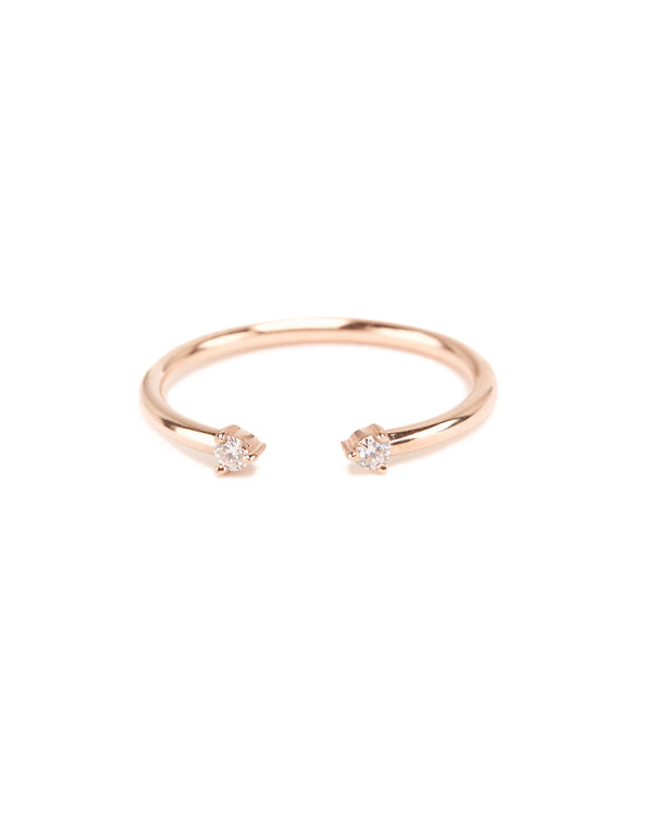 Gemini Diamond Ring - 9ct Rose Gold