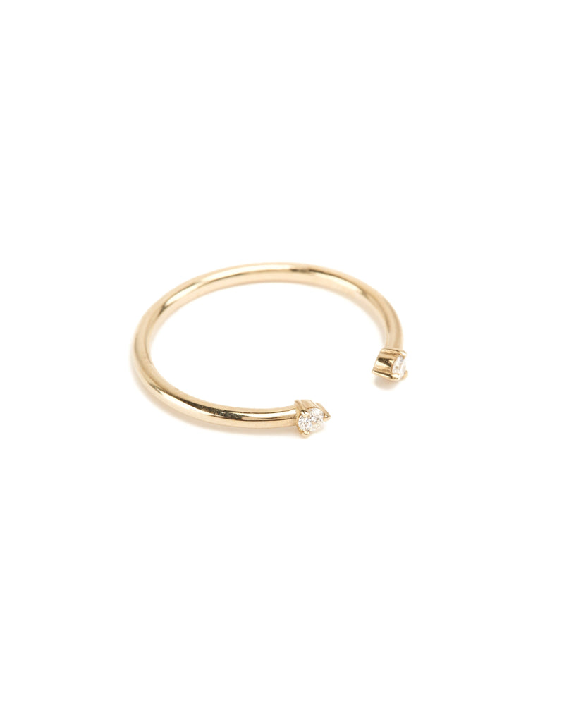 Gemini Diamond Ring - 9ct Gold