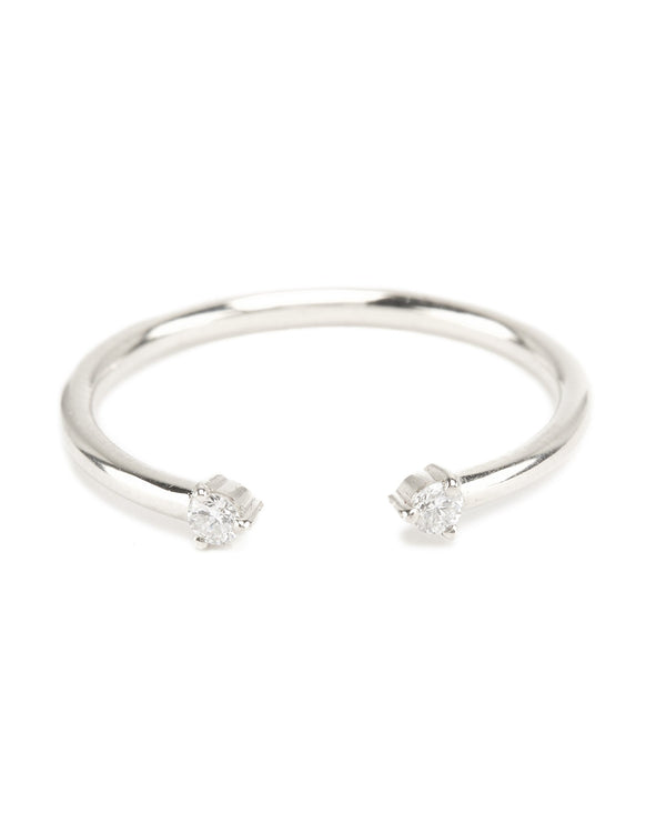 Gemini Diamond Ring - 9ct White Gold