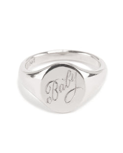 Fine Signet With Engraving - Silver