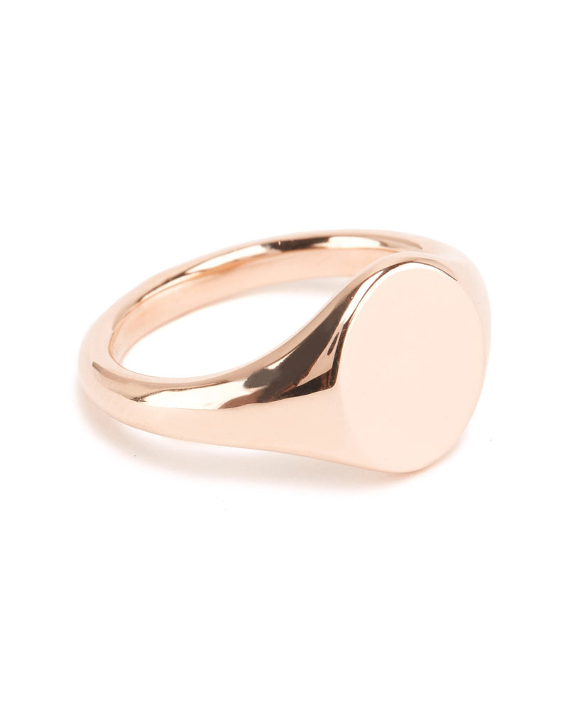 Fine Signet With Engraving - 9ct Rose Gold