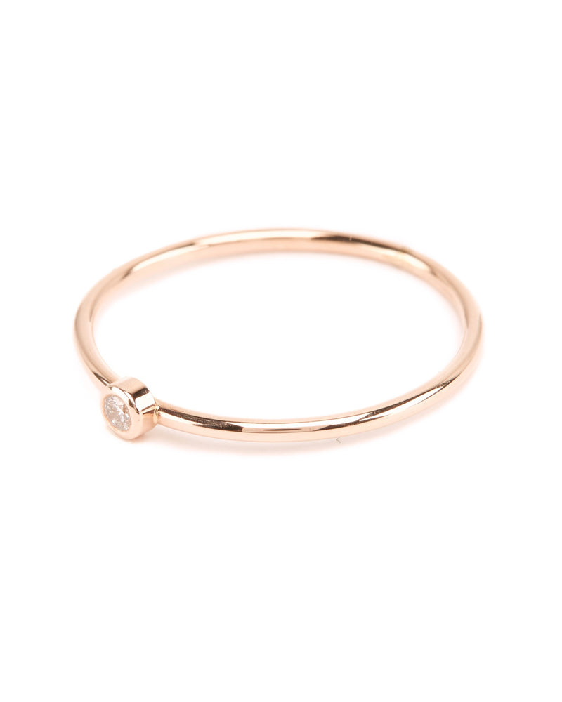 Neo Diamond Ring (Small) - 9ct Rose Gold