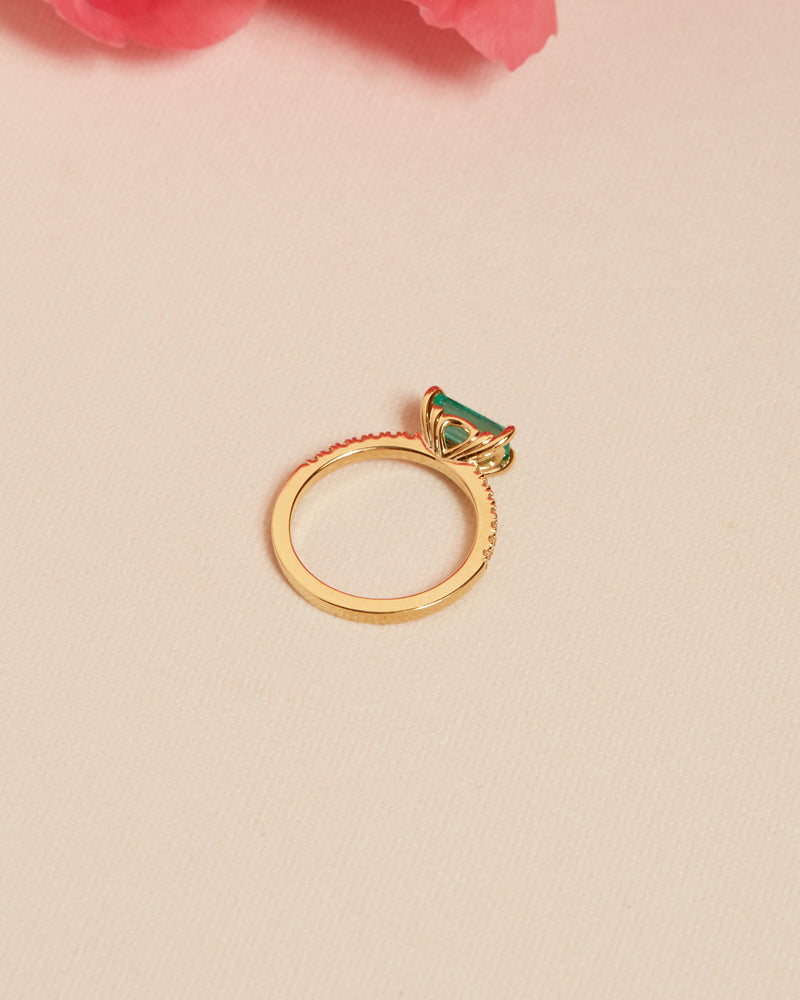 Zelda Emerald & Diamond Ring - 18ct Gold