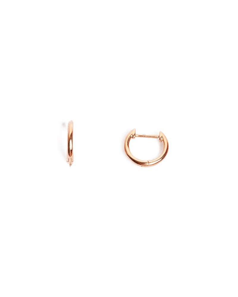 Round Huggies Small - 9ct Rose Gold