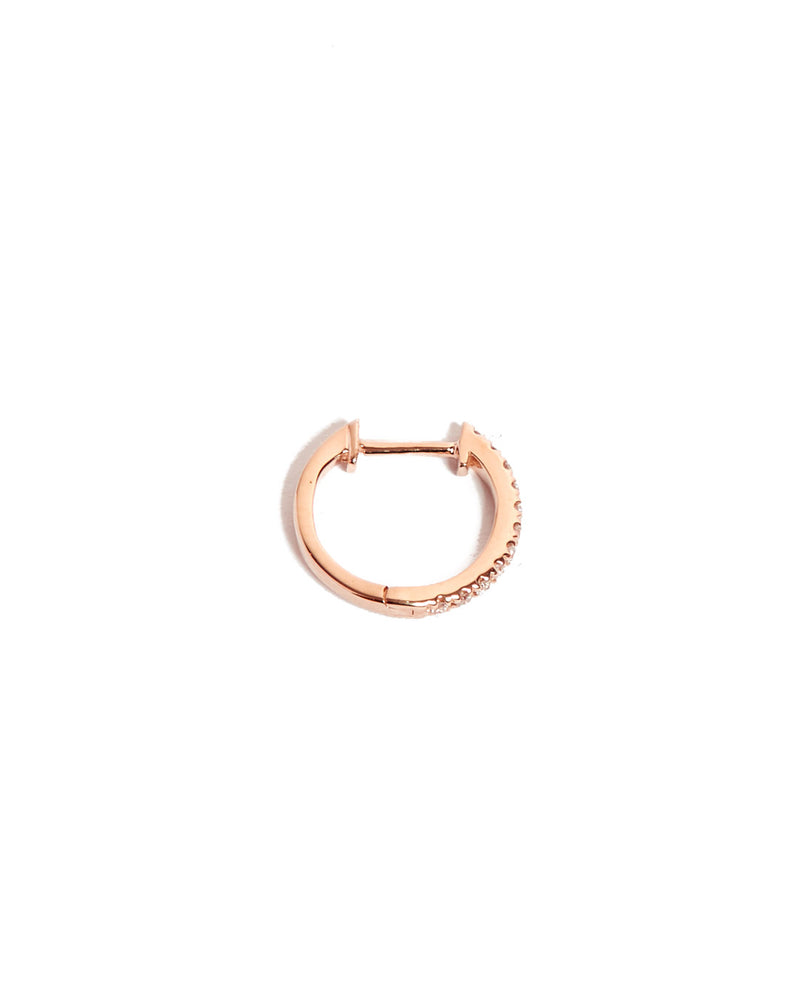Diamond Huggie Medium - 14ct Rose Gold