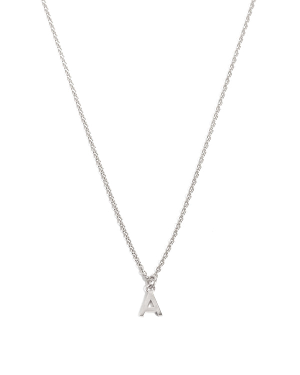 Letter Necklace - Silver