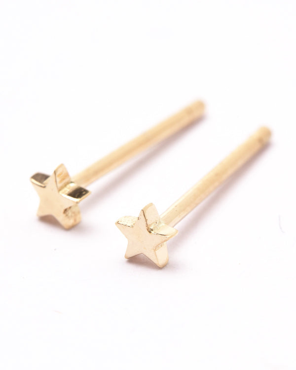 Tiny Star Studs - 9ct Gold