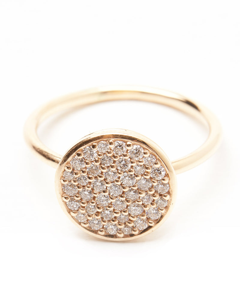 Grande Pave Diamond Ring - 9ct Gold