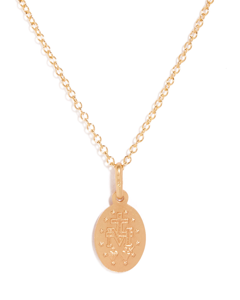 Miraculous Necklace Oval 12mm - 9ct Gold