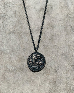 Greek Coin Necklace - Silver