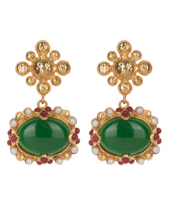 Tesoro Earrings Green