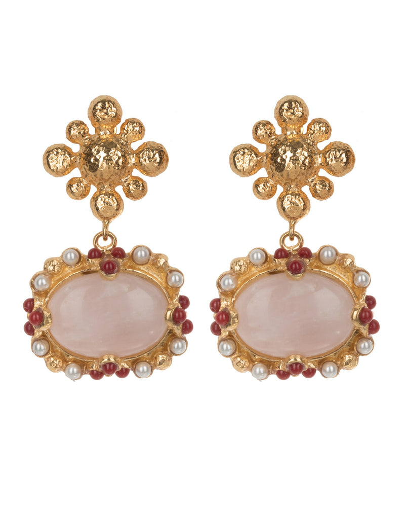 Tesoro Earrings Pink