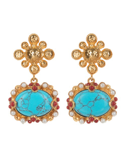Tesoro Earrings Turquoise