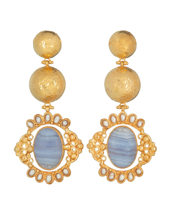 Paloma Earrings Pale Blue