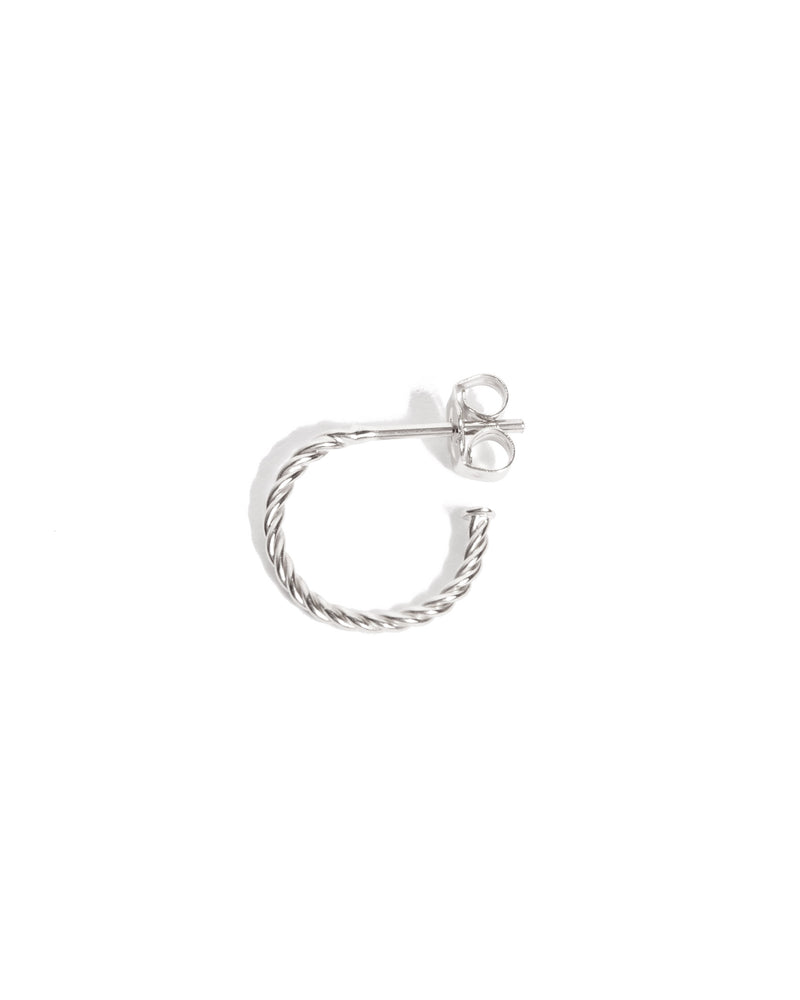 Helix Mini Hoops - Silver