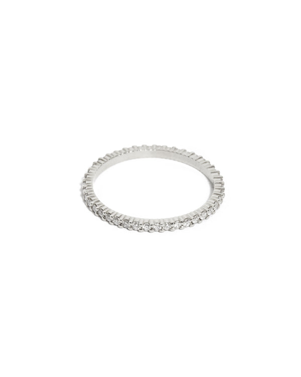 Sia Full Circle Diamond Ring - 14ct White Gold