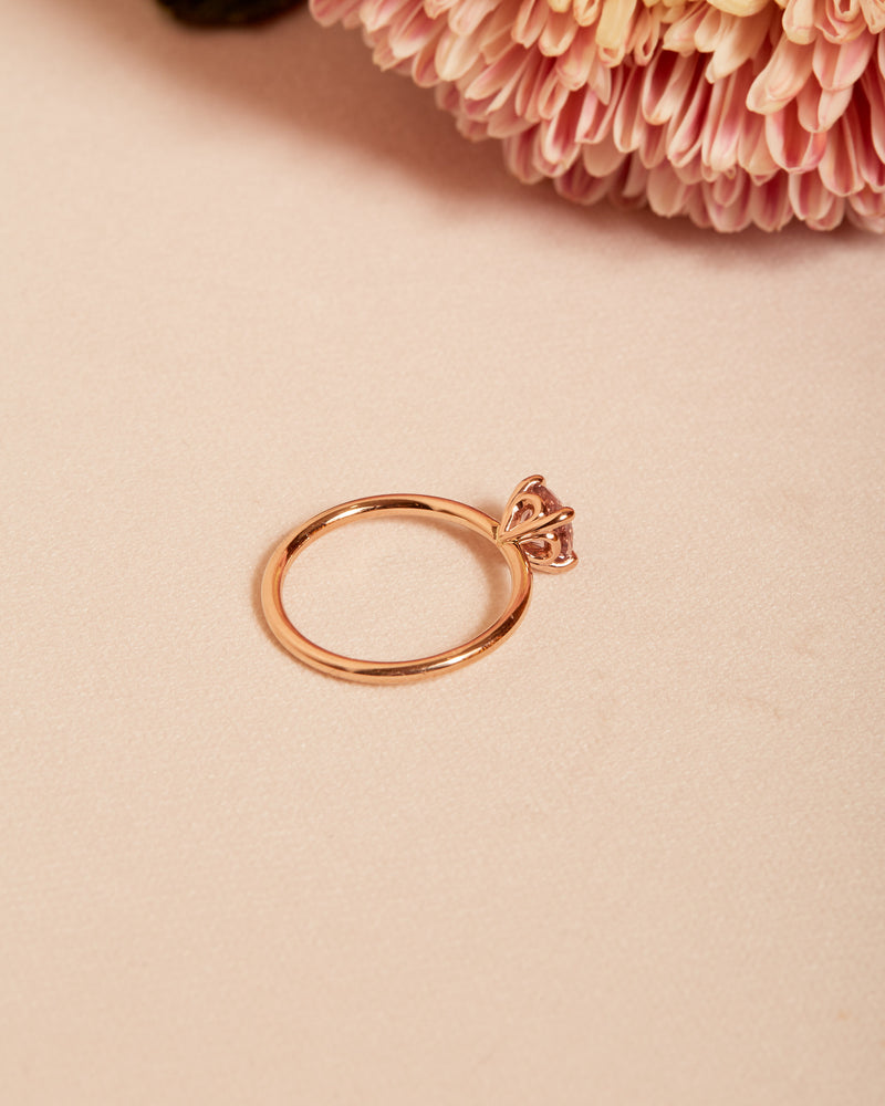 Valentina Pink Sapphire Solitaire - 14ct Rose Gold