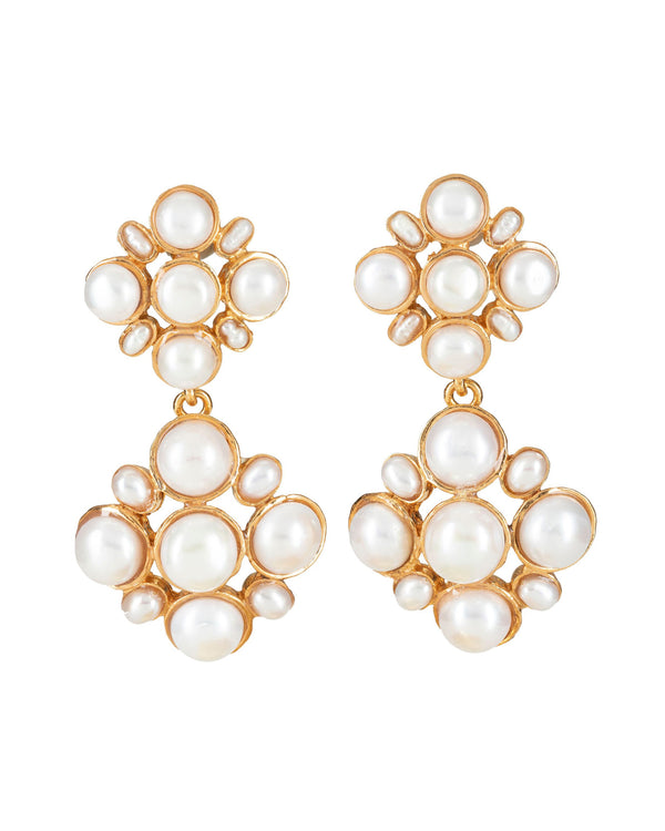 Guinevere Earrings Pearl