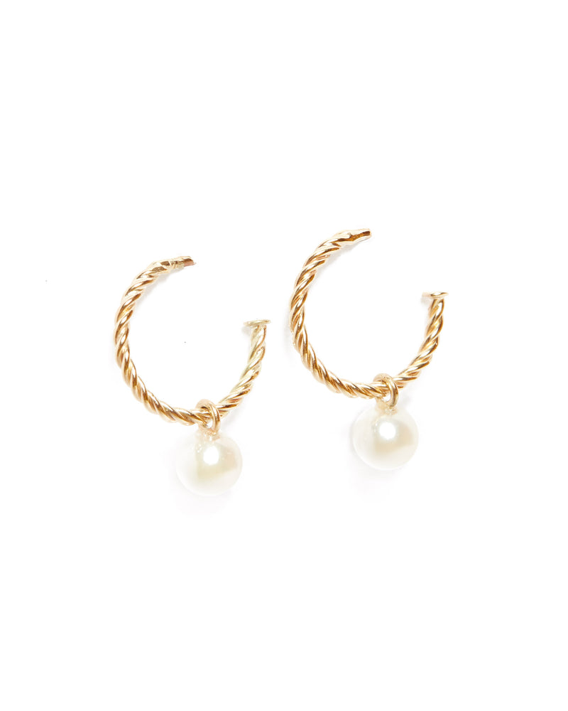 Helix Nymph Pearl Drops - 9ct Gold