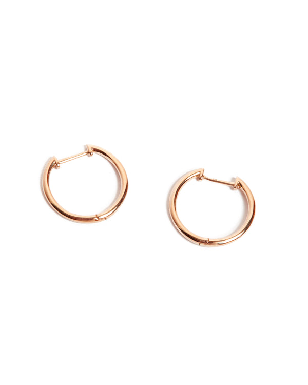 Round Huggies Large - 9ct Rose Gold