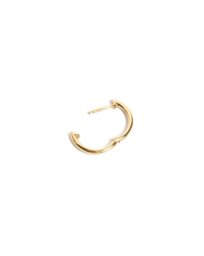 Round Huggie Medium - 9ct Gold