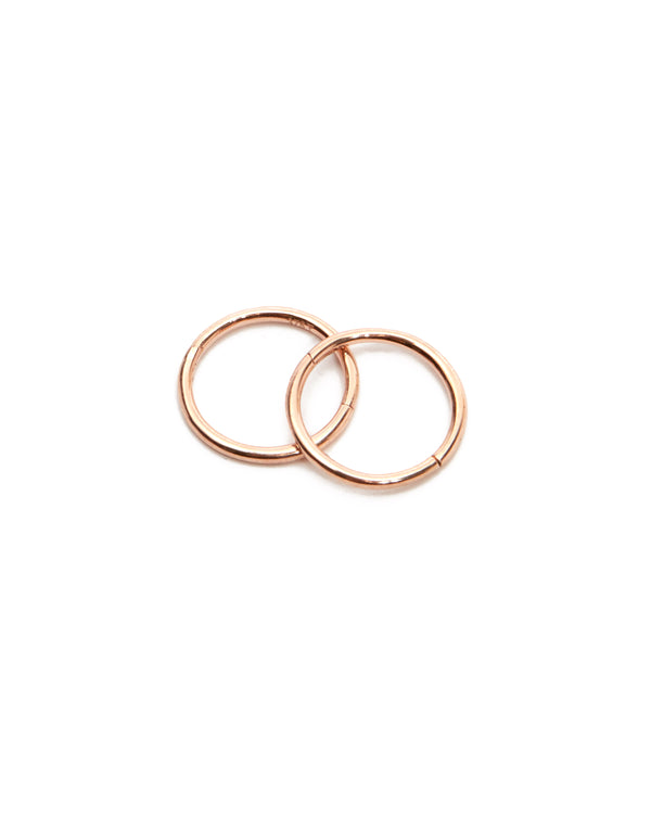 Sleeper Hoops 10mm - 9ct Rose Gold