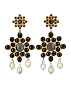 Delores Earrings Black