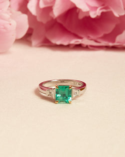 Cleo II Emerald & Diamond Ring - 18ct Gold & White Gold