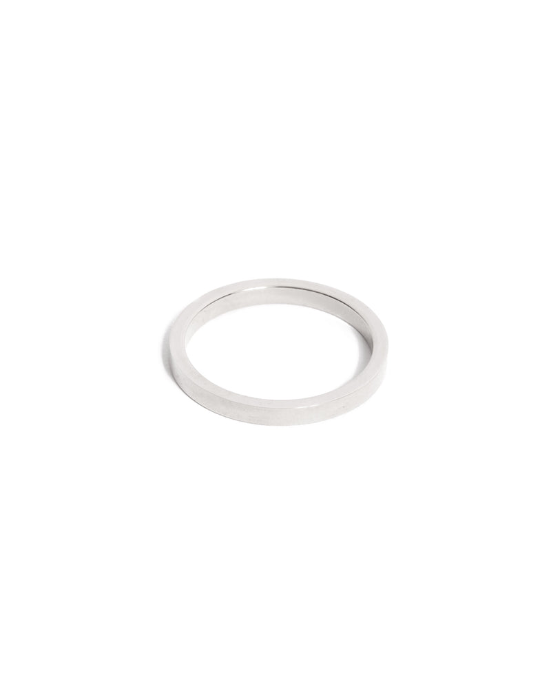 Flat Ring 2mm - 14ct White Gold