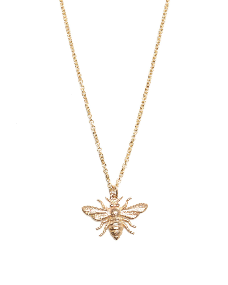 Honey Bee Necklace - 9ct Gold