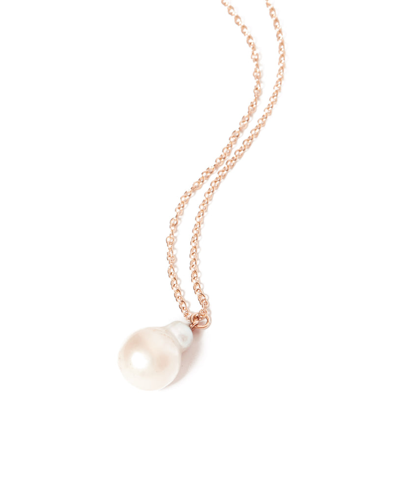 Siren Pearl Necklace - 9ct Rose Gold