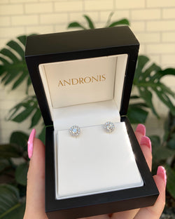 Diamond Cluster Studs - 18ct White Gold
