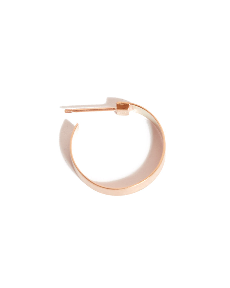 Frida Hoops (Brushed) - 9ct Rose Gold