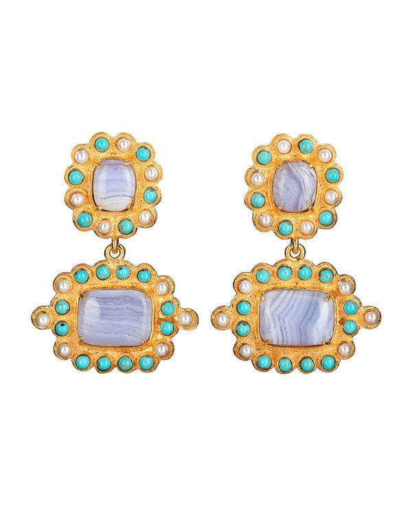 Nina Earrings Blue