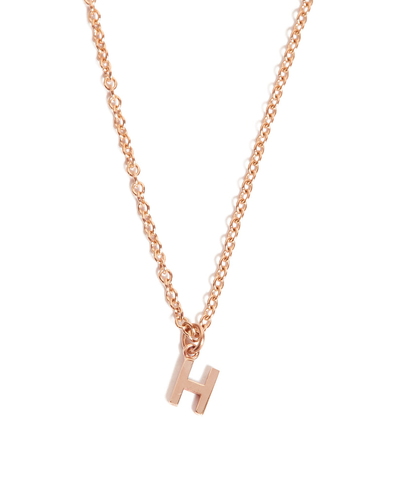 Letter Necklace - 9ct Rose Gold